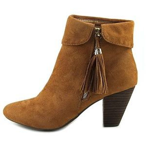 Report Women Suede Closed Toe Ankle Boots Tan
